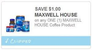 1 99 maxwell house coffee at meijer with coupon