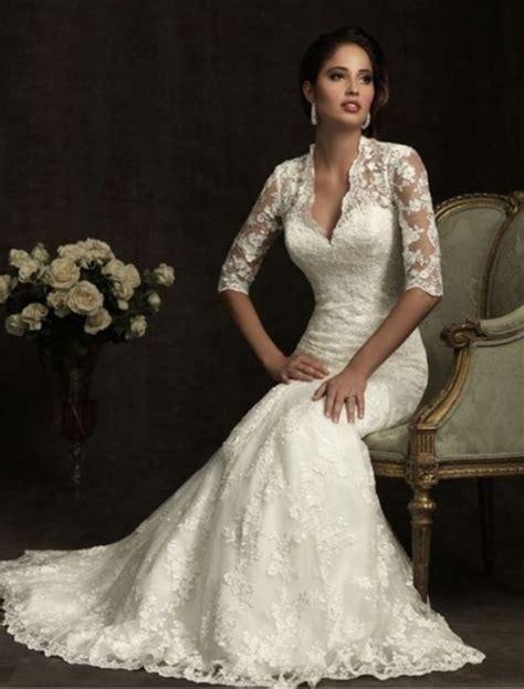 Hochzeitskleider Gã Nstig by Hochzeitskleider Spitze Langarm Hochzeitskleid