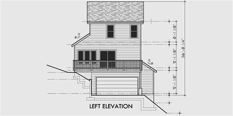 narrow sloping lot house plans single level living house plans narrow sloping lots home design and style