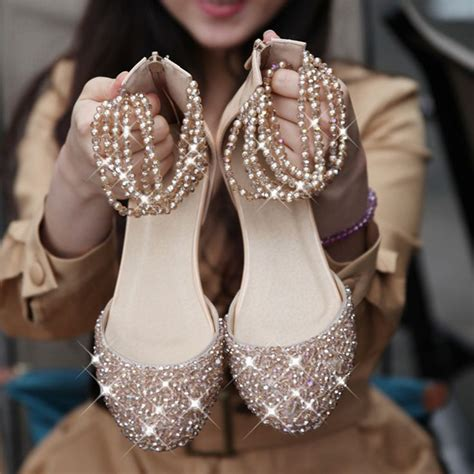 flat wedding shoes with bling bling flat wed flat bridal shoes shoe