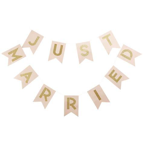 Just Married Girlande by Wimpelkette Zur Hochzeit In Rosa Weddix De