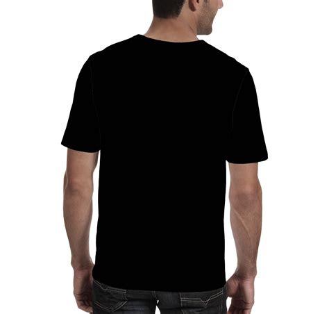 Kaos A template kaos polos hitam depan belakang untuk desain kaos