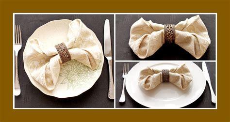 tischdeko und servietten servietten falten schleife deko ideen