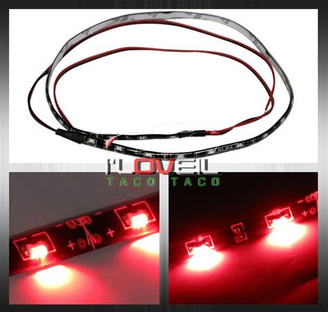 stick on brake light 50cm long 30 medium led light strip rear bumper trunk