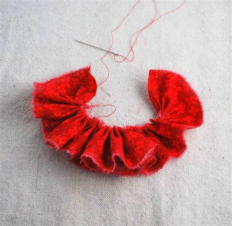 flower tutorial gathered fabric flower tutorial 003 creations by kara