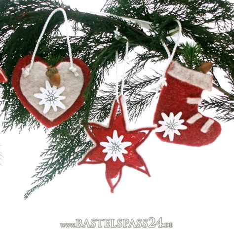 Weihnachtsdeko Aus Filz Basteln by Weihnachtsdeko Aus Filz Selber Machen Alpenlook F 252 R Den