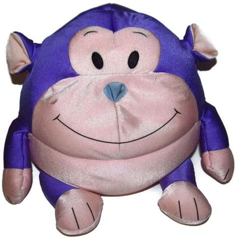 moshi purple and pink monkey microbead pillow 13 quot pink