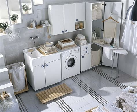 white laundry white and colored laundry room cabinets from idea