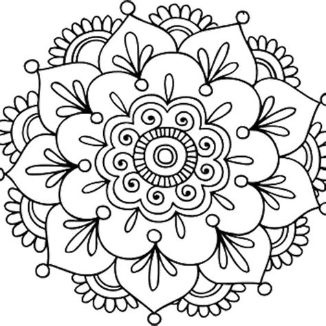 simple mandala flower my shop pinterest simple