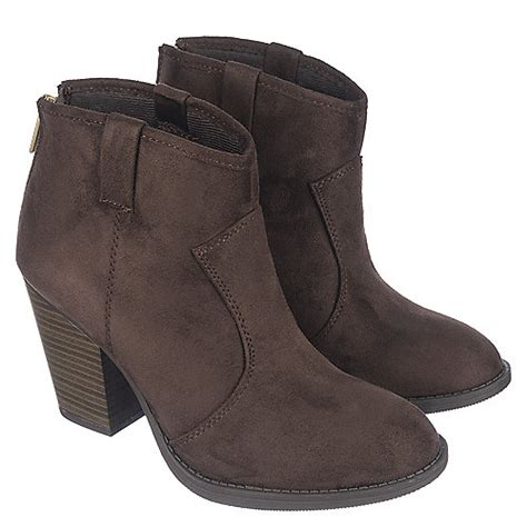s brown low heel ankle boot albert s shiekh shoes
