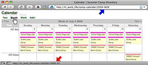 Current Calendar Week Navigation Links Month Week And Day Sometimes