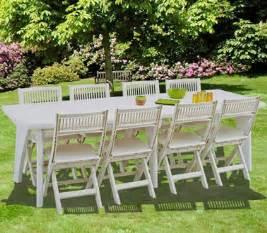 une table de jardin en r 233 sine blanche