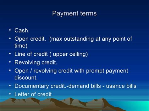 Letter Of Credit Usance Period Working Capital
