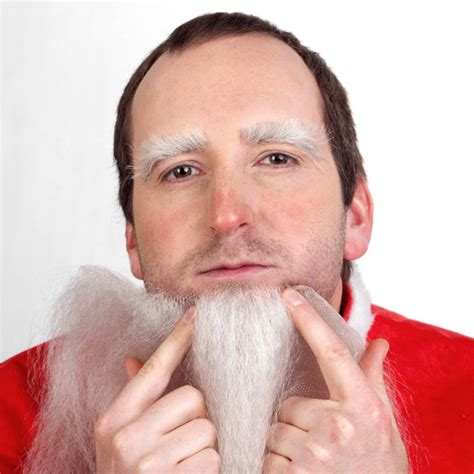 libro father christmass fake beard christmas costume how to part i become santa claus maskworld com