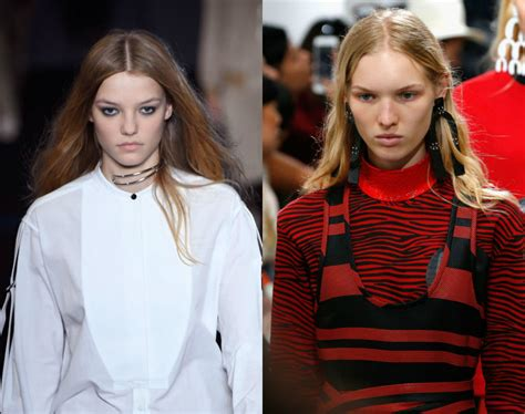 3 chic and easy hairstyles from spring 2017 runway runway