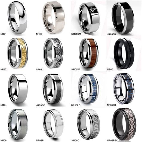 ring sizer chart inches tungsten wedding ring mens