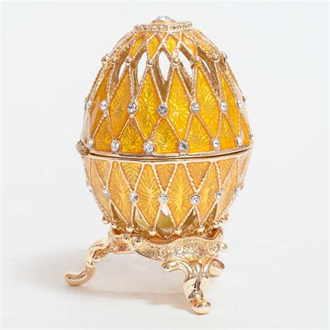 Home Made Decoration Things Gold Faberge Egg Openwork Faberge Egg Openwork Gold