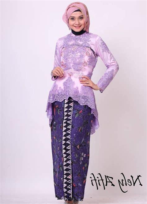 Kebaya Jadi Modern Muslimah Brokat Semi Perancis Wisuda Pesta Model Kebaya Semi Newhairstylesformen2014