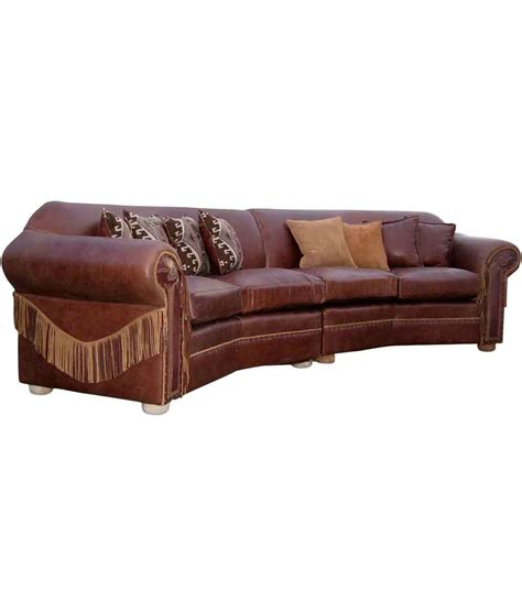 curved couches leather curved leather sectional