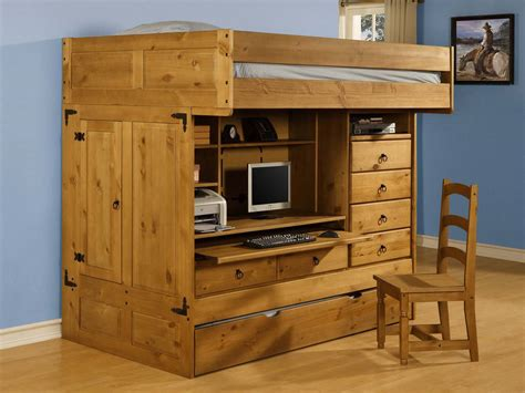 powell bunk beds with desk powell rustica full over twin all in one bunk bed with