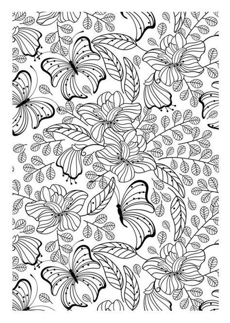 Muster Zum Ausdrucken Ausmalen Erwachsene Schmetterlinge Muster Mit Schmetterlinge Und Blumen 2