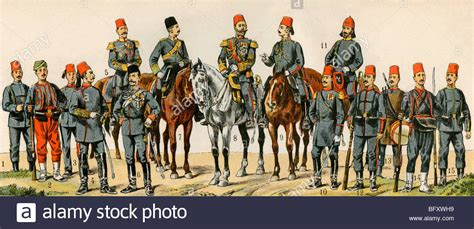 ottoman empire military military officers of the ottoman empire circa 1900 stock
