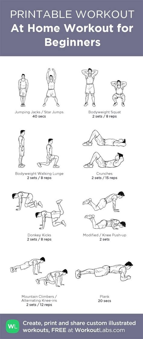 at home workout for beginners from