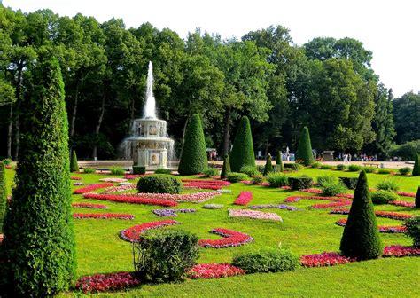Palace Gardens by Beautiful Garden Peterhof Palace Gardens Russia