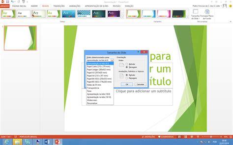 tamanho layout power point como alterar o tamanho dos slides no powerpoint