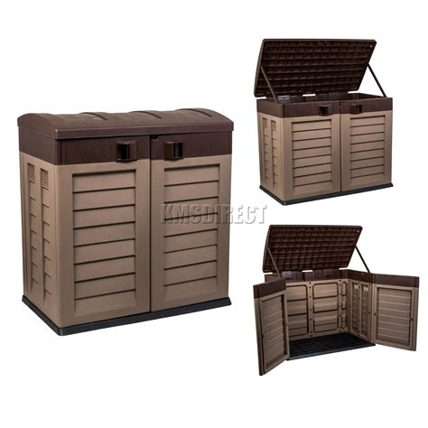 plastic outdoor plastic outdoor storage box nz designs bins canadian tire