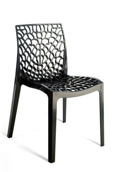 gruvyer modern black italian dining chair