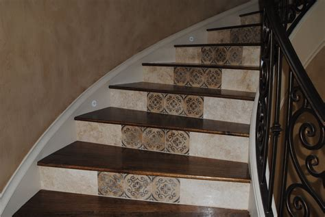 Mirror Tile Backsplash Kitchen Stair Cases Shelton Tile