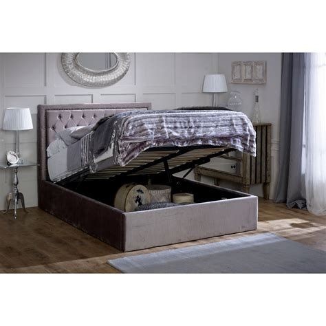 silver bed frame buy limelight rhea ottoman silver bed frame big