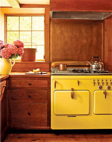 yellow vintage kitchen vintage kitchen decosee com