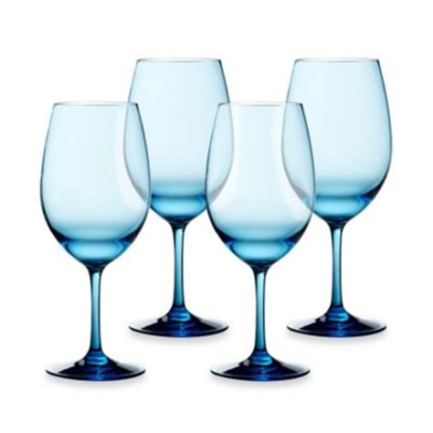 bed bath and beyond glasses buy blue glass wine glasses from bed bath beyond