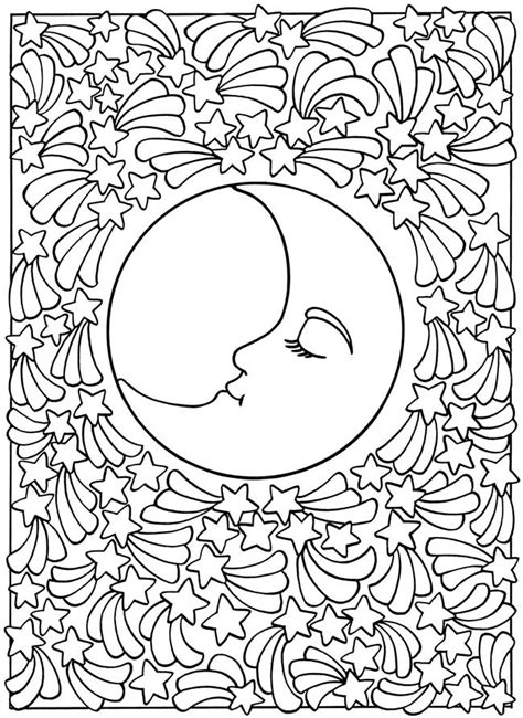 moon mandala coloring pages welcome to dover publications sun moon and stars designs