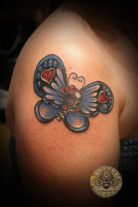 tattoo on asshole butterfly on skull butterfly color by