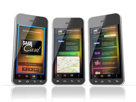 android to iphone app saarcard android iphone app impulsaar werbeagentur in saarlouis grafikdesign webdesign