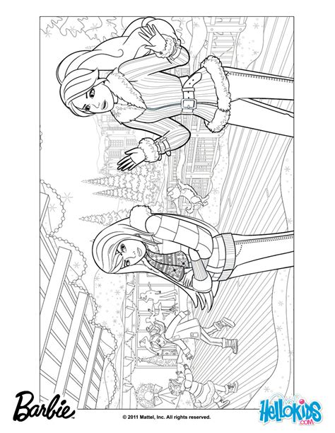 large barbie coloring pages barbie christmas coloring pages free large images