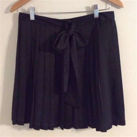 48 gap dresses skirts gap pleated bow tie black