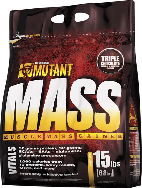 mutant mass 15lbs gainer mass by mutant at bodybuilding best prices on mass