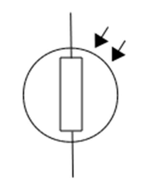 ldr resistor symbol ldr or light dependent resistor electrostudy