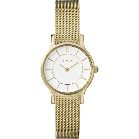 gold tone classic slim t2p168 timex from