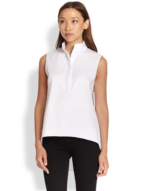 Tifany Blouse 1 elie tahari blouse in white lyst