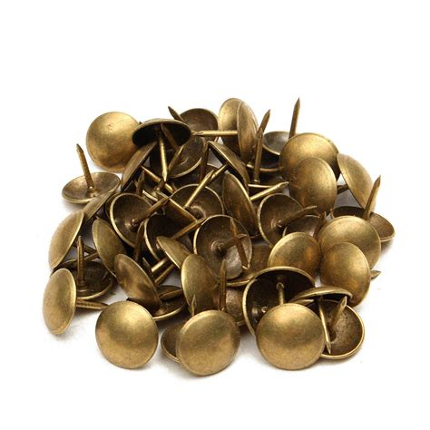 Brass Upholstery Studs by 50 100pcs Antique Upholstery Tacks Brass Nails Furniture