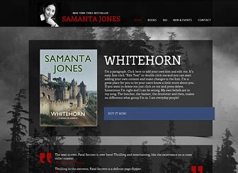 Author Website Template Wix Author Website Template