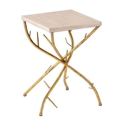 Gold Accent Table Southern Enterprises Nymeria Branch Accent Table In Gold And White Oc1507