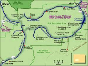 alpine loop colorado map coloradotravelconnection quot the world is a great book of