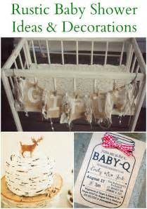Deer Baby Shower Decorations 20 Rustic Baby Shower Ideas Rustic Baby Chic