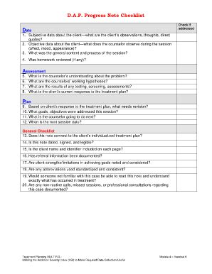 Counseling Treatment Plan Template Template Business Dap Note Template Mental Health